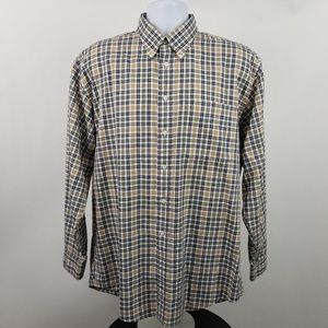 Jos A Bank 1905 Blue Yellow Green Check Plaid Sz L